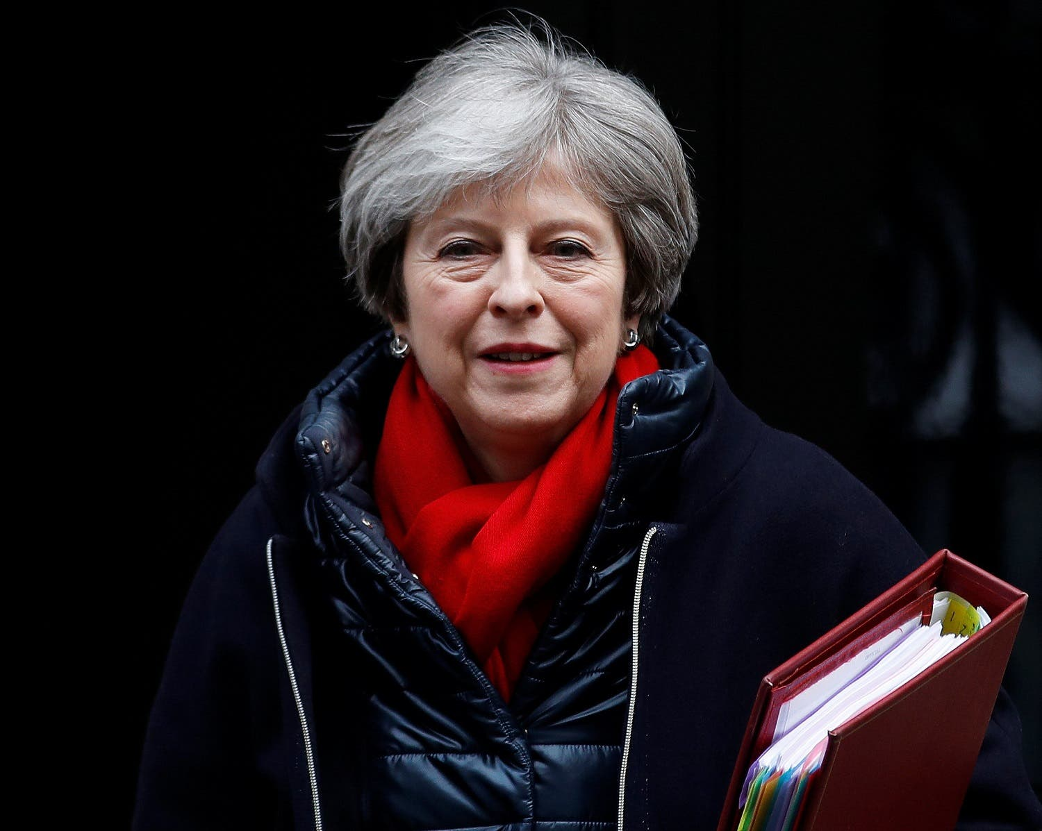 Britain's Prime Minister Theresa May leaves 10 Downing Street in London, on February 7, 2018. (Reuters)