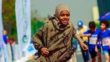 Egyptian girl who sells tissues proves poverty is no limit, wins race barefoot