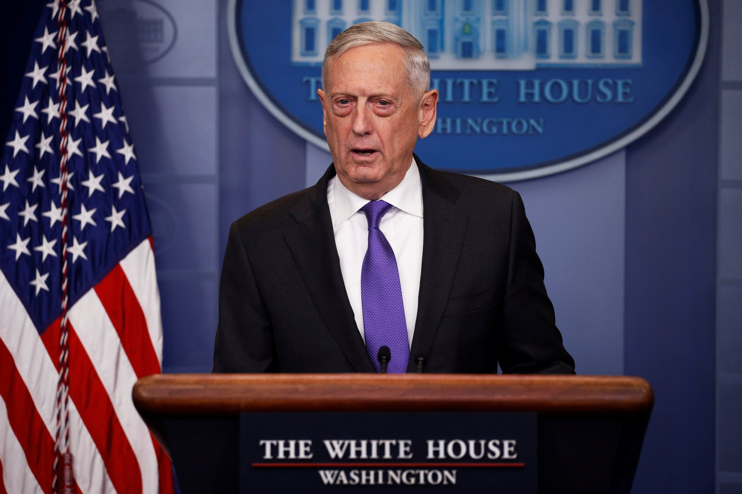 Pentagon chief Jim Mattis expanded on the US Defense Department's version of what happened in the incident near the city of Deir Ezzor. (Reuters)
