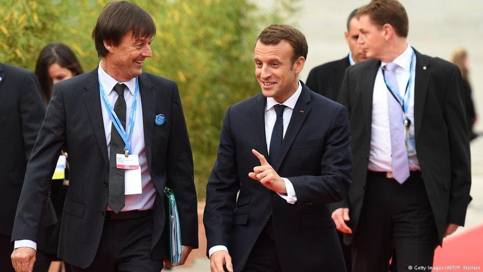 الرئيس الفرنسي ماكرون دافع عن وزير البيئة