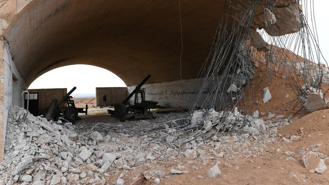 Military weapons are seen in Idlib, Syria January 21, 2018. Picture taken January 21, 2018. (Reuters)
