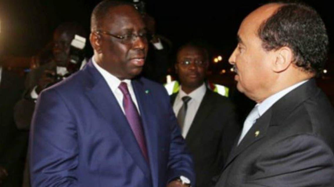 رئيس موريتانيا ورئيس السنغال