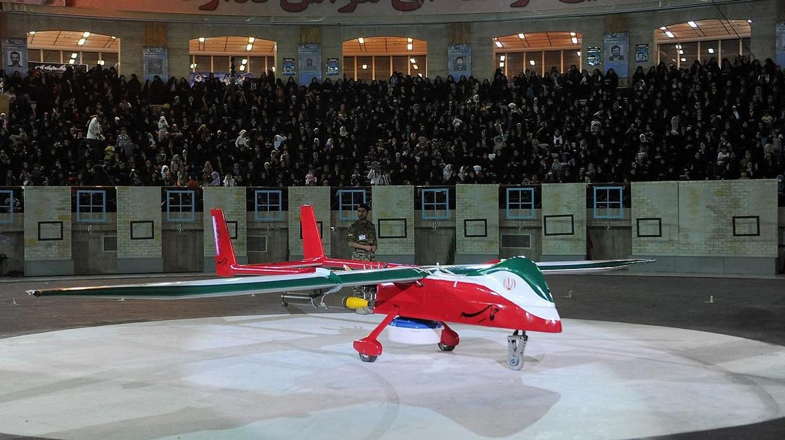 """The new Iranian made drone """"Epic"""" is seen during a ceremony in Tehran on May 9, 2013. (AFP)"""