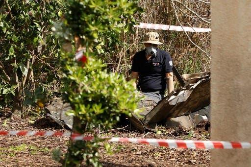 من مكان سقوط طائرة الأف 16 الإسرائيلية