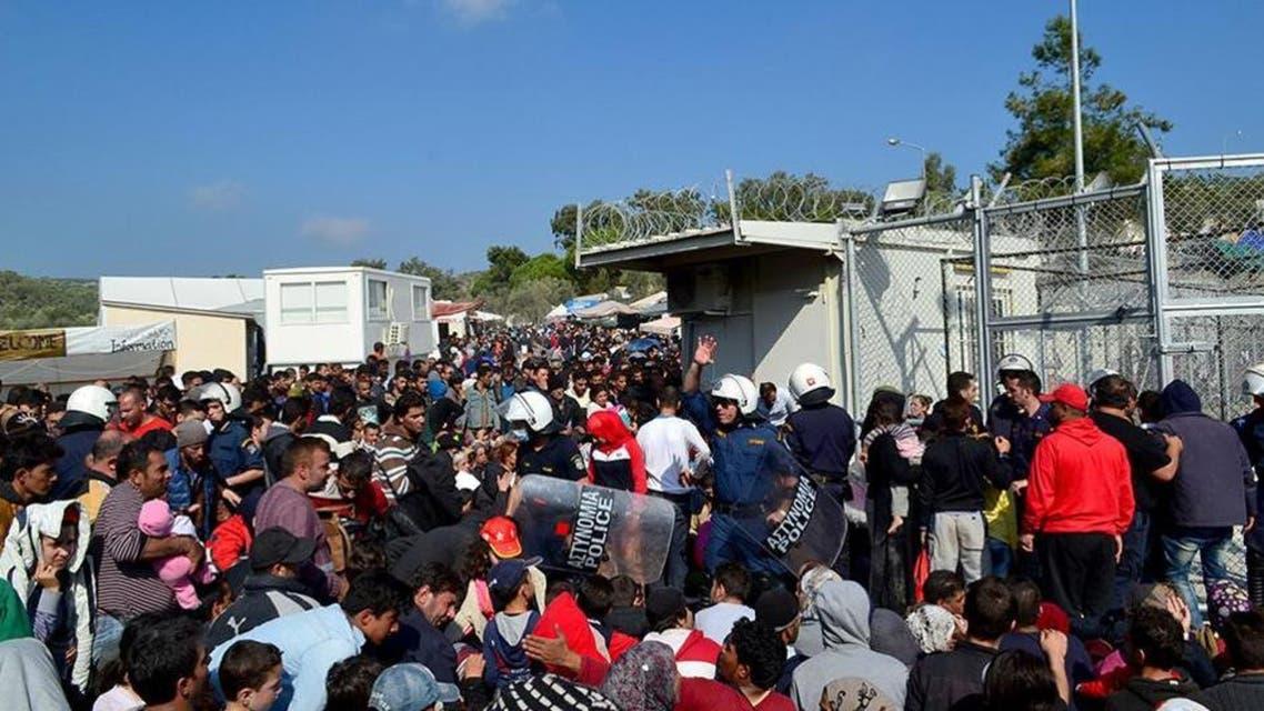 مركز لاجئين في اليونان