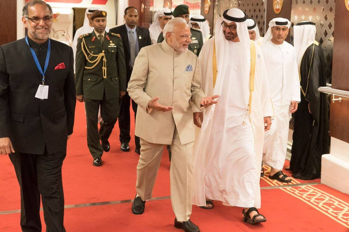 The signing was witnessed by Prime Minister Modi and and Sheikh Mohamed bin Zayed Al Nahyan. (WAM)