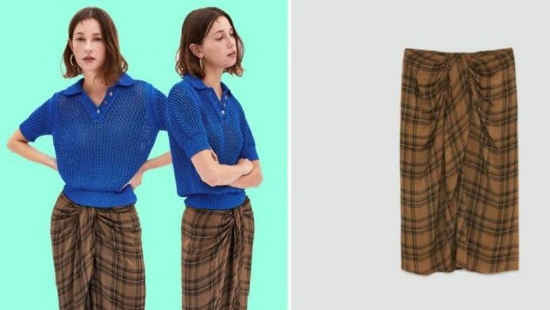 7ceacb2c99 The high street is now trying to sell an Asian 'lungi' skirt for $98. Zara  has ...