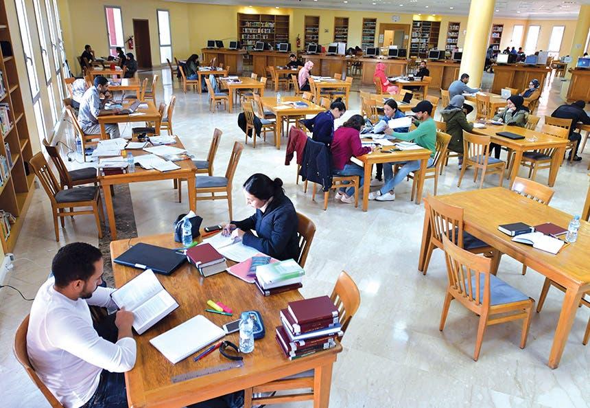 إتاحة البحث والدراسة في قاعات مكتبة الملك عبدالله بن عبدالعزيز