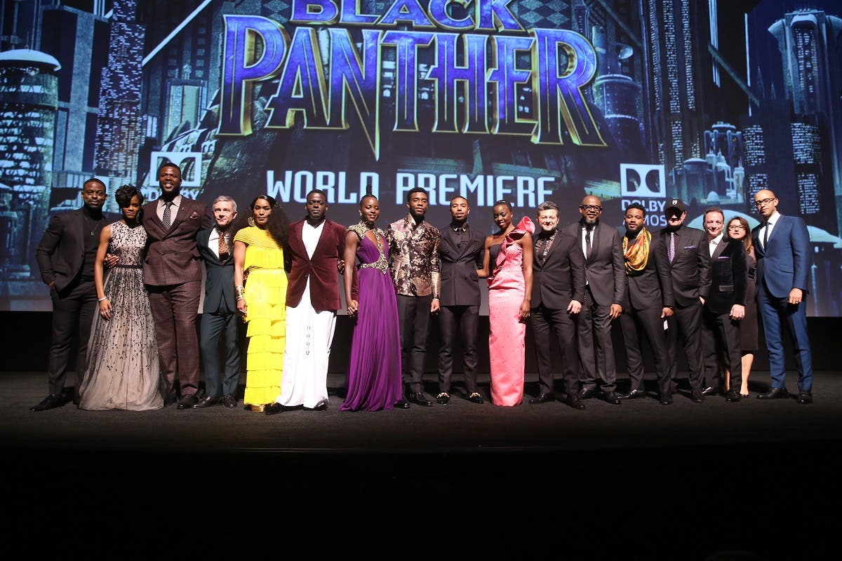 The cast of Black Panther at Dolby Theatre on January 29, 2018 in Hollywood, California. (AFP)