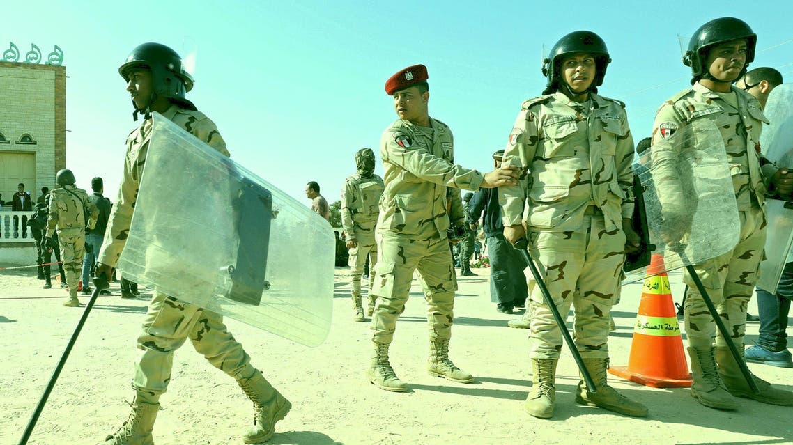 Military forces are seen in North Sinai. (Reuters)