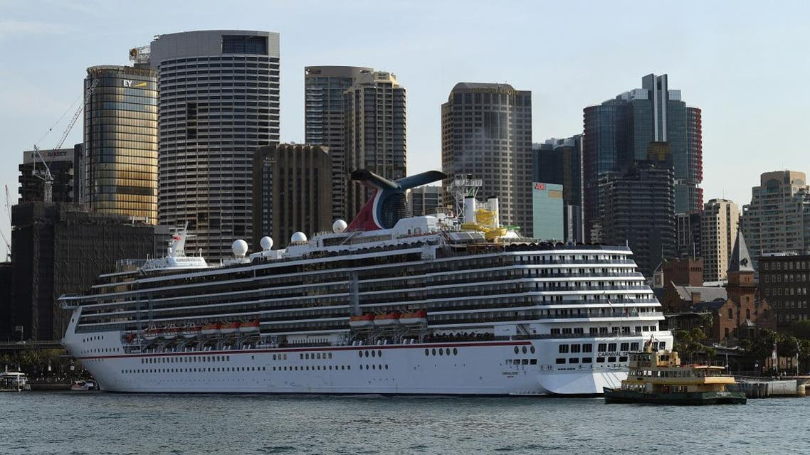 A cruise ship leaves Sydney Harbour on September 22, 2017. (AFP)