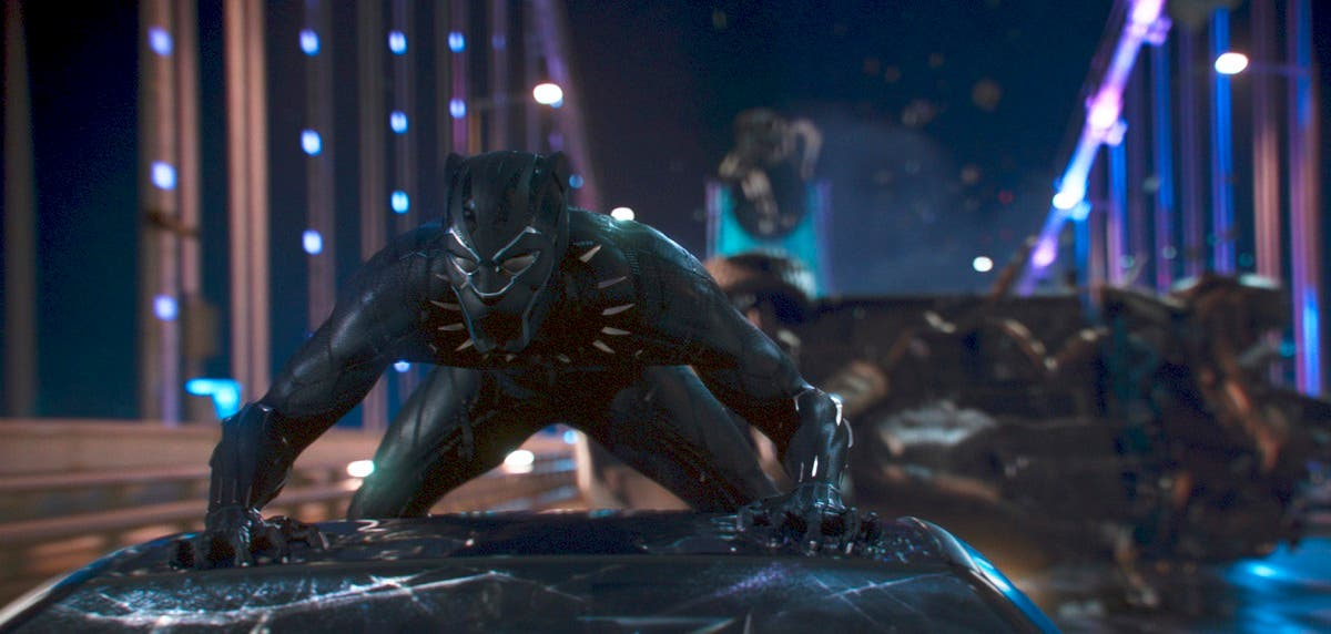 This image released by Disney shows a scene from Marvel Studios' Black Panther. (AP)
