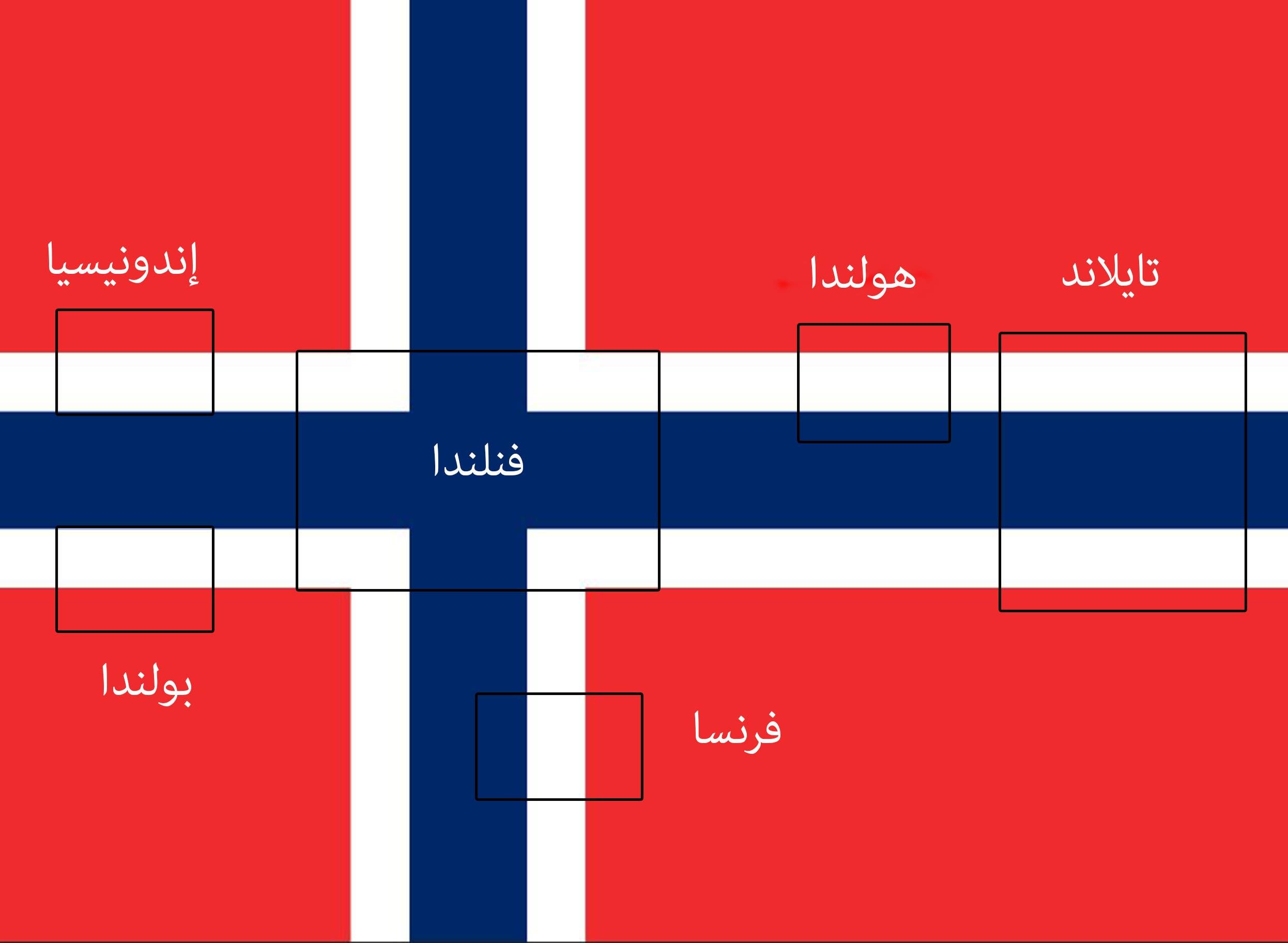 أعلام 6 دول في العلم النرويجي