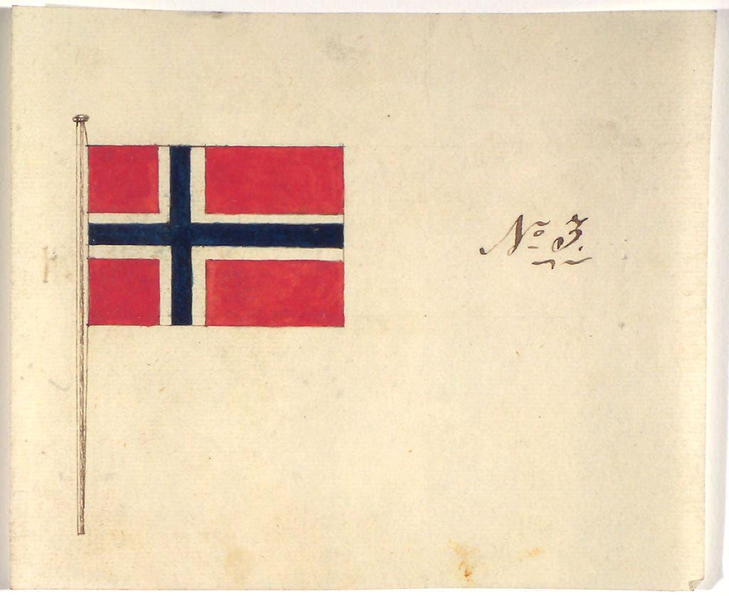 التصميم الذي قدمه ملتزر للبرلمان النرويجي في عام 1821