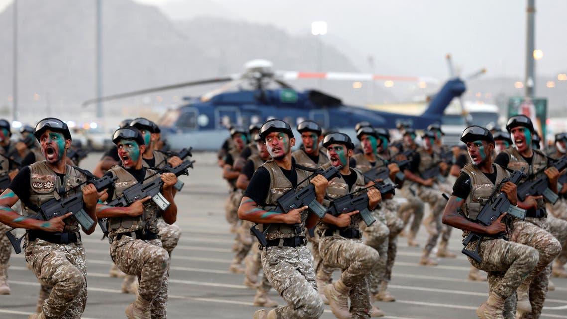 Saudi military training. (Reuters)