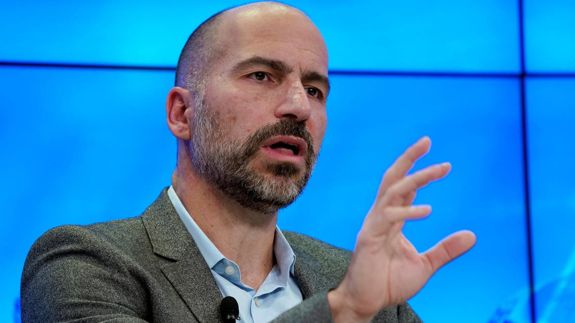 Dara Khosrowshahi attends the World Economic Forum (WEF) annual meeting in Davos, Switzerland, on January 23, 2018. (Reuters)