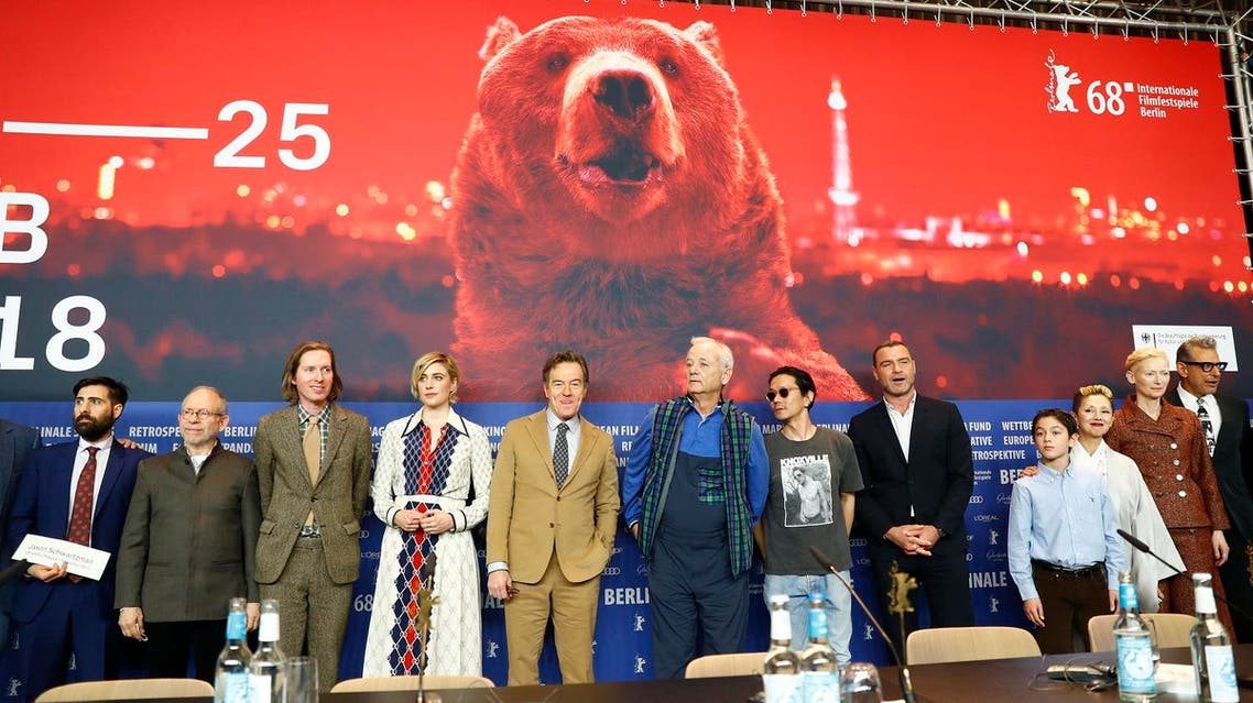Director, screenwriter and producer Wes Anderson and cast members at the 68th Berlinale International Film Festival in Berlin, Germany, February 15, 2018. (Reuters)