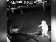 بالفيديو.. لص غبي يتسبب بإصابة زميله أثناء محاولة سرقة