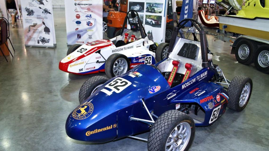 MOSCOW - AUGUST 25: Formula Hybrid engineered by students auto at the international exhibition of the auto and components industry, Interauto on August 25, 2011 in Moscow (Shutterstock)
