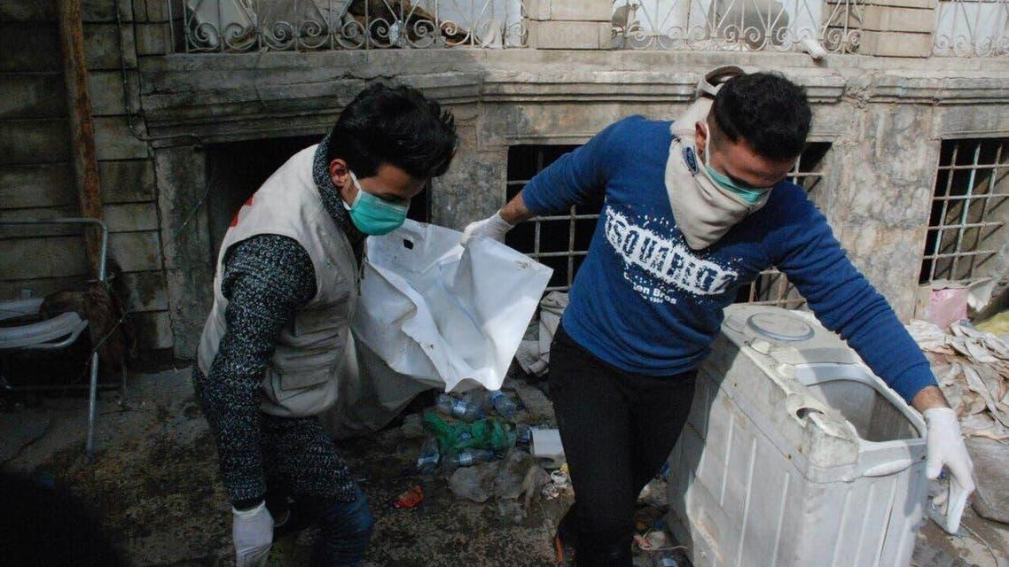 من عمليات انتشال الجثث - العراق