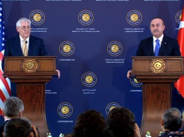 أوغلو وتيلرسون: نتشارك نفس الأهداف بالنسبة لسوريا