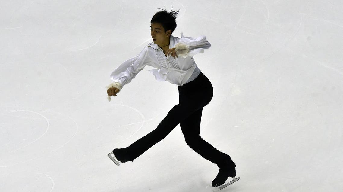 Michael Christian Martinez performs during the Men Short Program during the ISU Four Continents Figure Skating Championships in Taipei on February 19, 2016. (AFP)