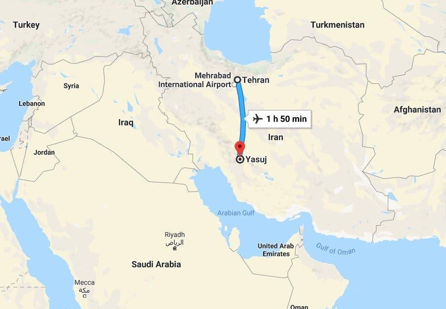تحطم طائرة في إيران