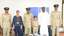 Eight-year-old's dream of becoming UAE policeman comes true