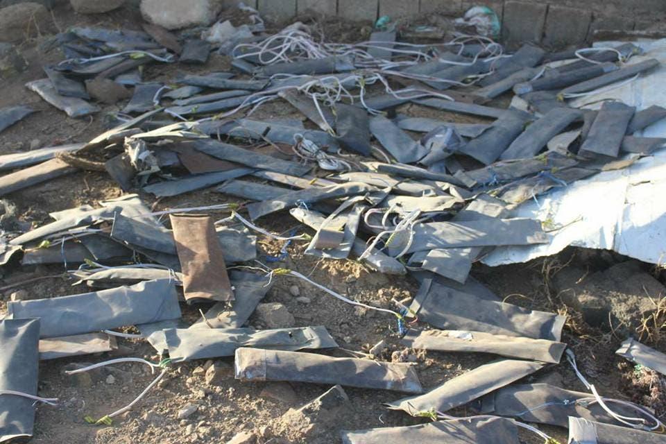 اشكال غريبة لالغام وعبوات انتزعها الجيش اليمني في مندبة بصعدة
