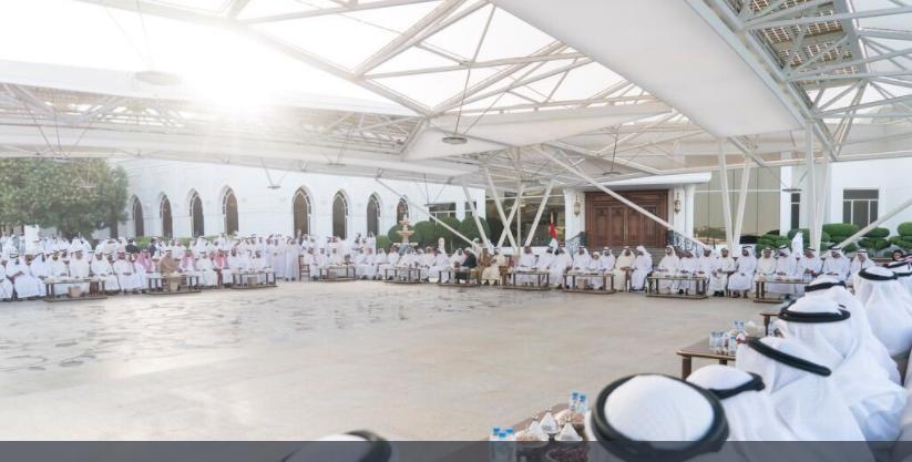 Sheikh Mohammed bin Rashid and Mohamed bin Zayed, welcomed Sheikh Sultan to the UAE. (Twitter)