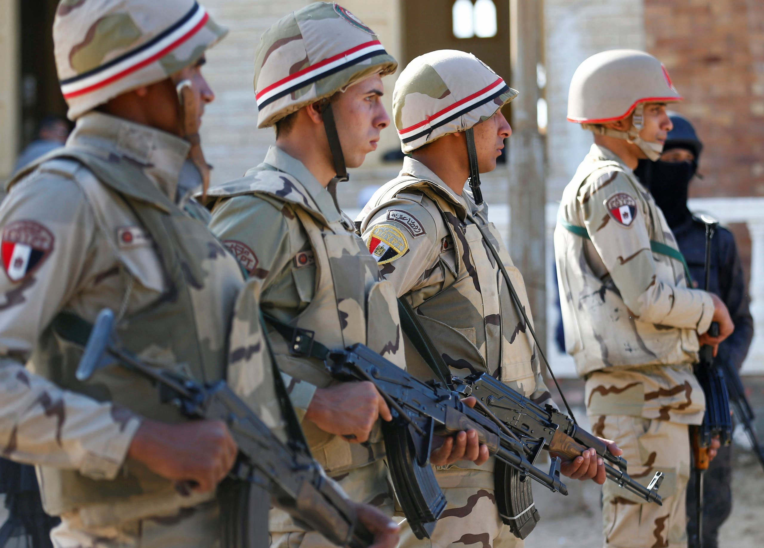 Egypt troops in north sinai. (Reuters)