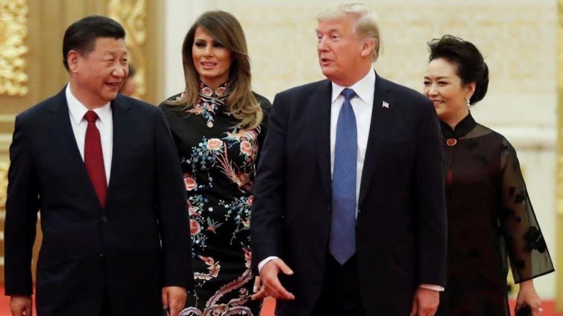ترمب والرئيس الصيني خلال مأدبة العشاء التي سبقتها المشاحنات