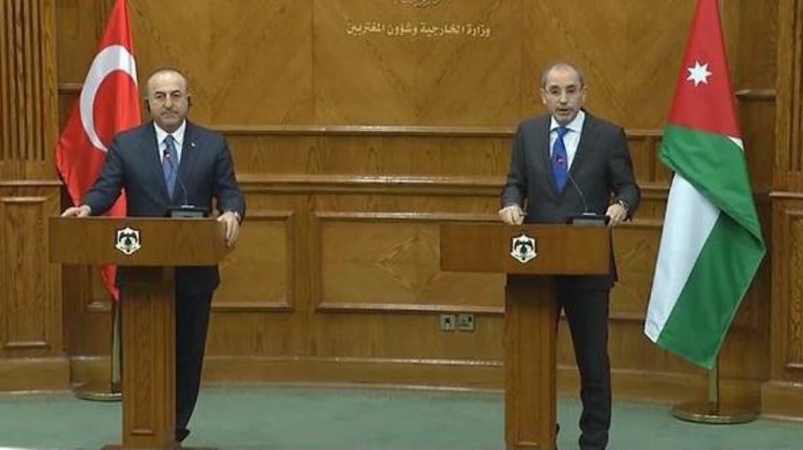 مؤتمر صحفي لوزيري خارجية الأردن وتركيا