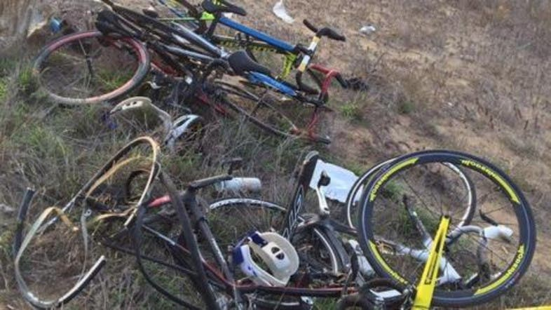 In a horrific accident four members of a Saudi cycling club