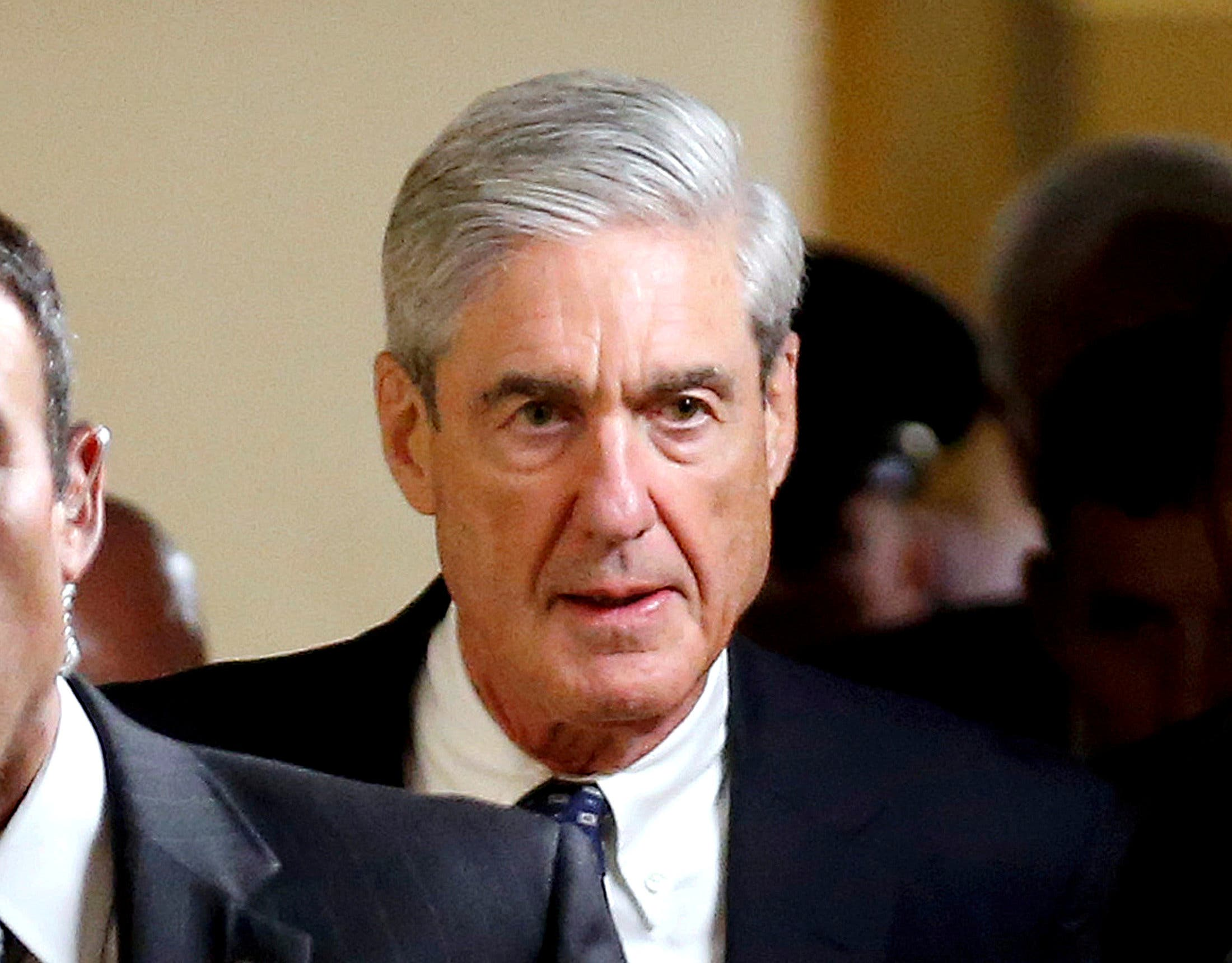 FILE PHOTO: Special Counsel Robert Mueller departs after briefing members of the U.S. Senate on his investigation into potential collusion between Russia and the Trump campaign on Capitol Hill in Washington, DC, U.S., June 21, 2017. REUTERS/Joshua Roberts/File Photo