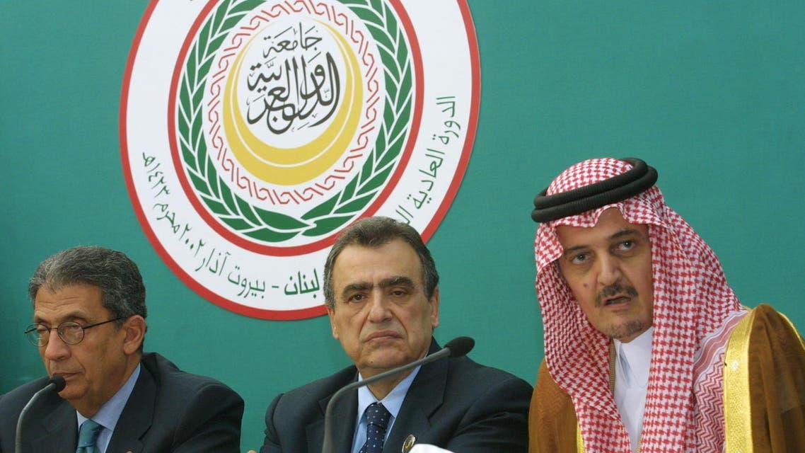 مؤتمر صحافي في ختام القمة العربية 2002 في بيروت 2002 Arab League summit