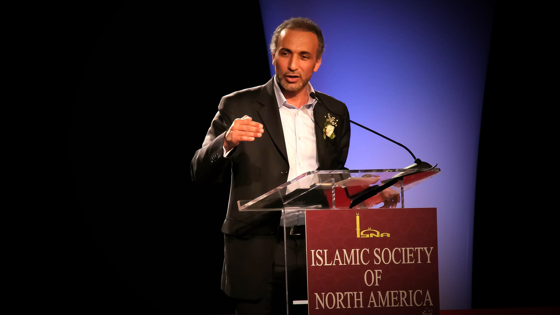 Tariq Ramadan speaking at an event in the United States. (File Photo: flickr/umarnasir)