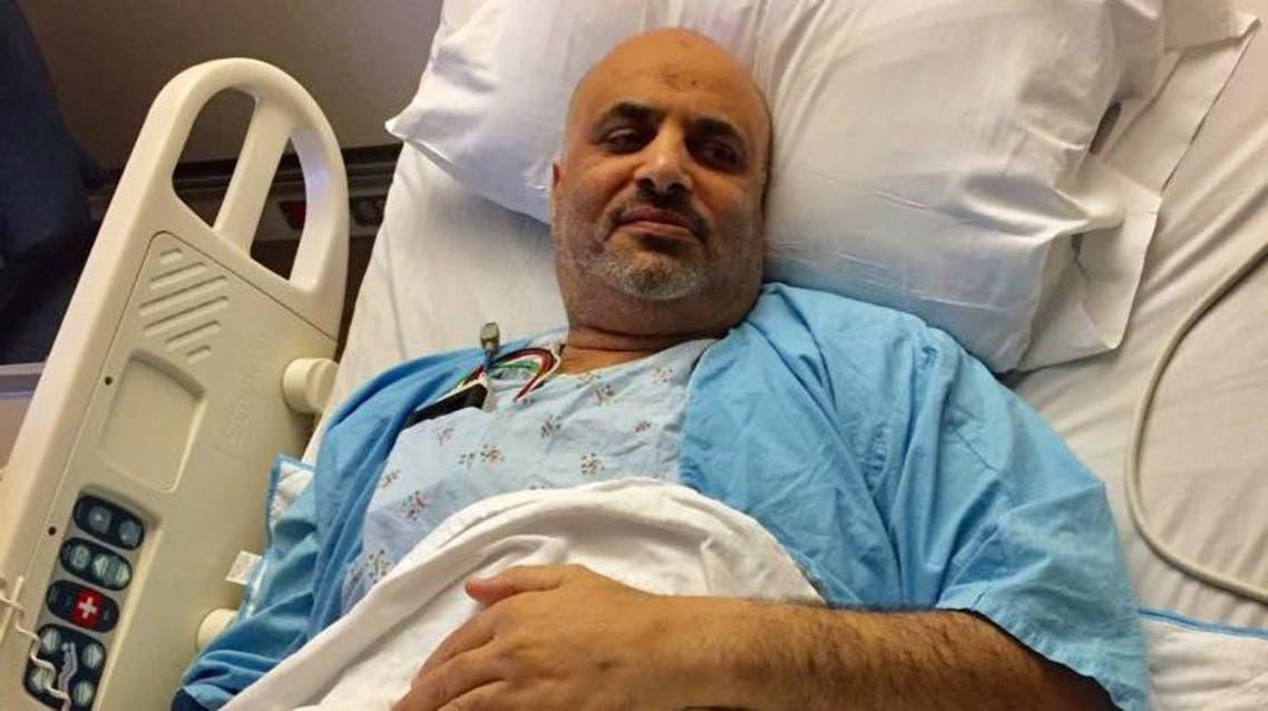 نبيه البراهيم في المستشفى