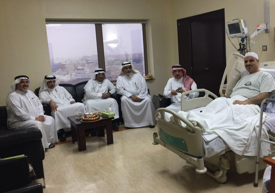 أثناء مكوث البراهيم في المستشفى