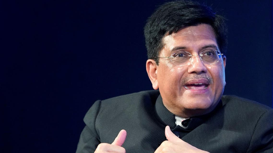 Piyush Goyal, Minister of Railways and Coal of India, during the World Economic Forum annual meeting in Davos on January 23, 2018. (Reuters)