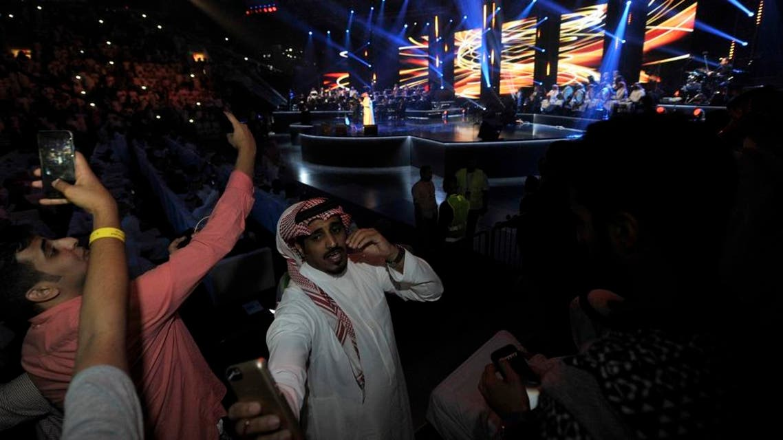 Saudis attend a concert by 'Paul McCartney' in Jeddah on January 30, 2017. It was the the first major concert in the kingdom in seven years. (AFP)