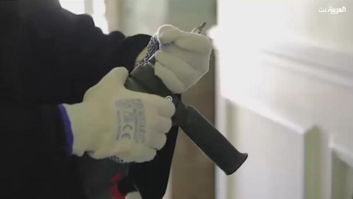 Saudi woman handyman. (Screen grab)
