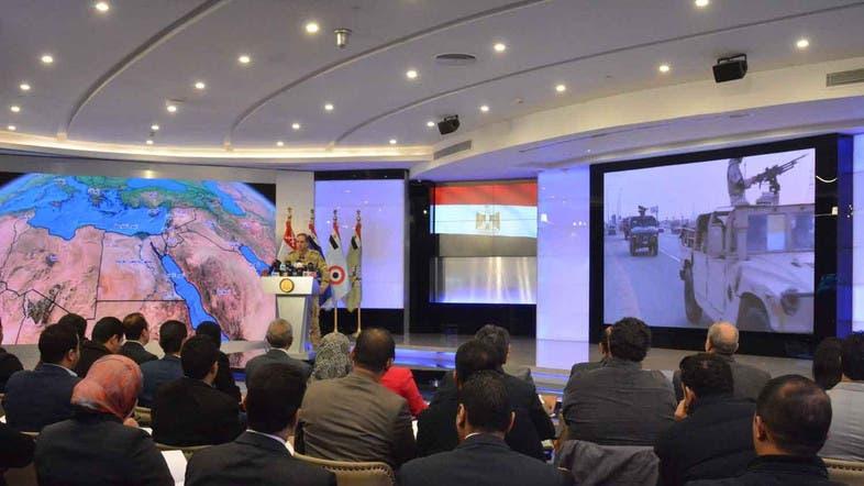 المتحدث العسكري خلال المؤتمر الصحفي