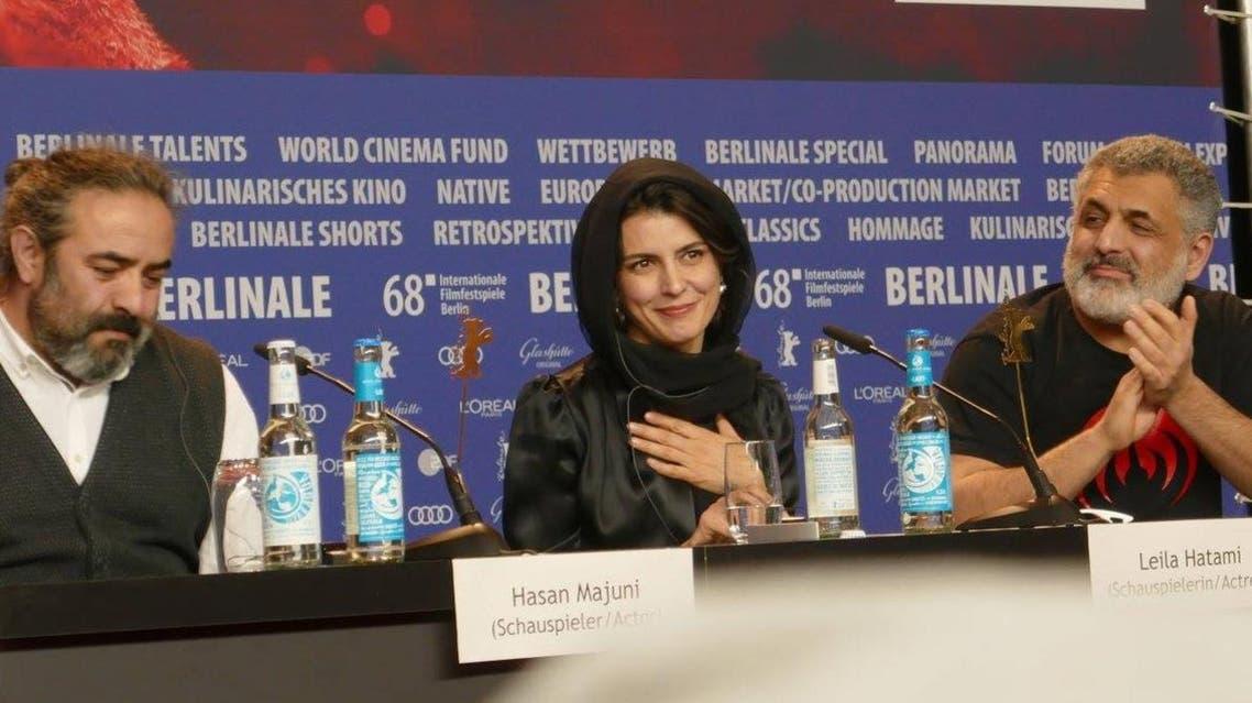 ليلا حتمي بالمؤتمر الصحفي بمهرجان برلين السينمائي الدولي