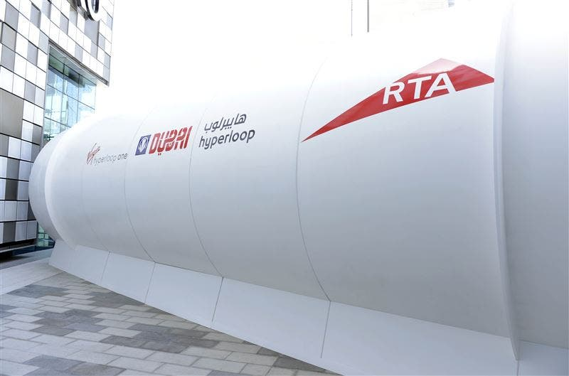 The Hyperloop technology uses an electromagnetic propulsion system to accelerate the movement of goods and services through a vacuum tube. (Photo courtesy: RTA)