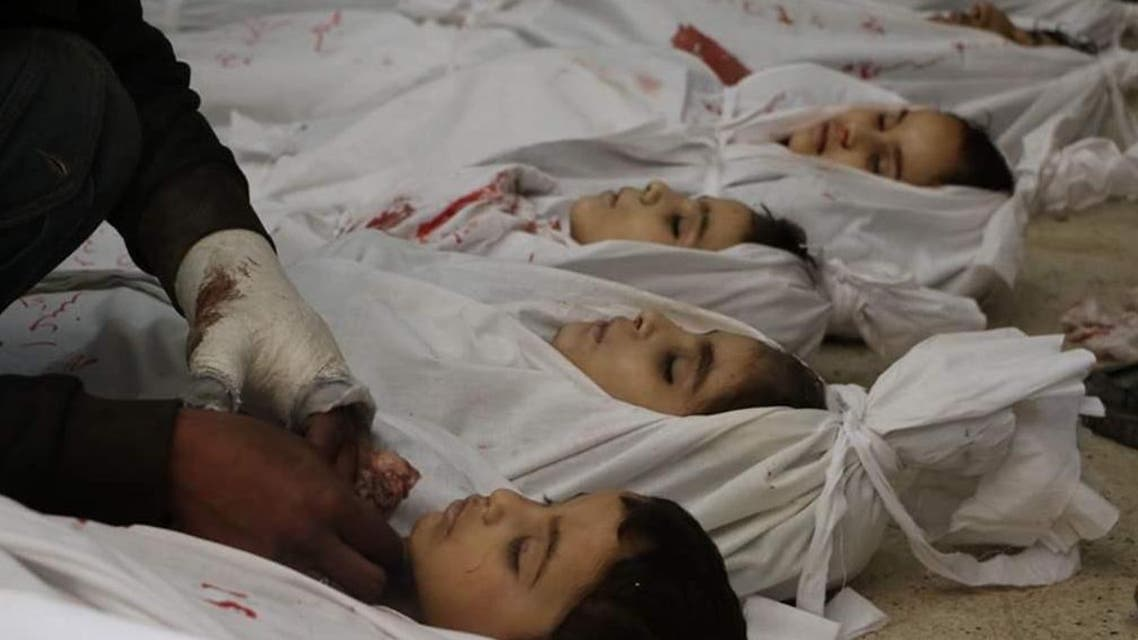 جثث أطفال في الغوطة