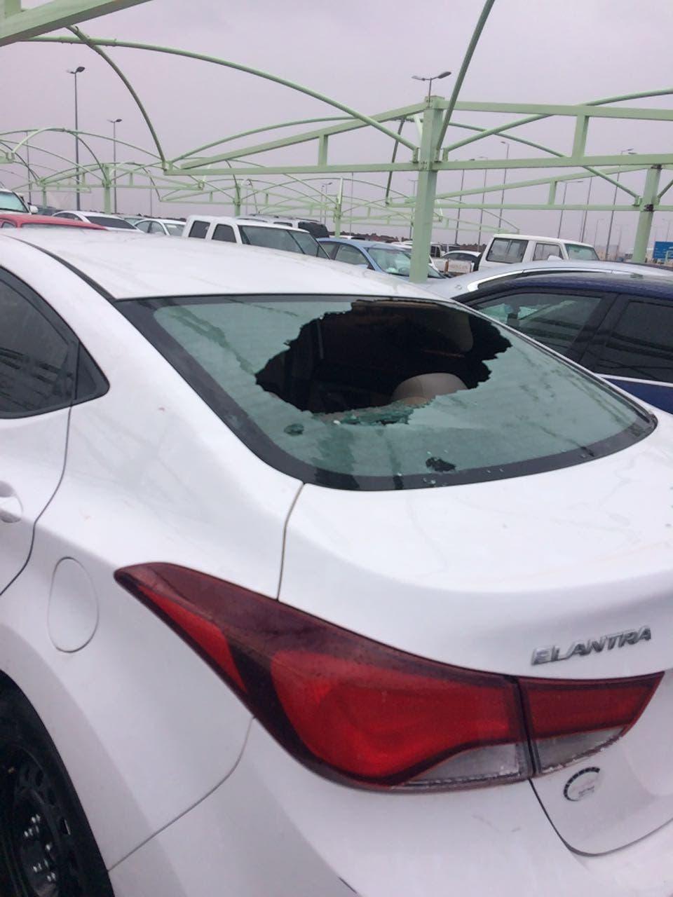 برد المدينة المنورة يحطم السيارات