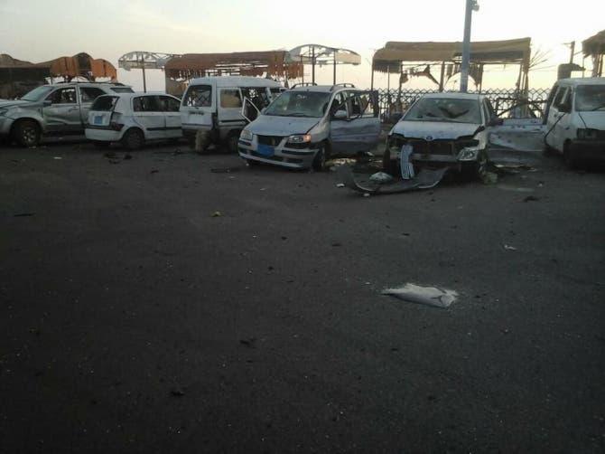 الهجوم أوقع خسائر مادية أيضا بالسيارات