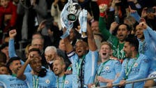 Man City win English League Cup soccer with 3-0 win over Arsenal
