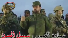 VIDEO: Syrian army brigadier speaks to troops flanked by Russian soldiers
